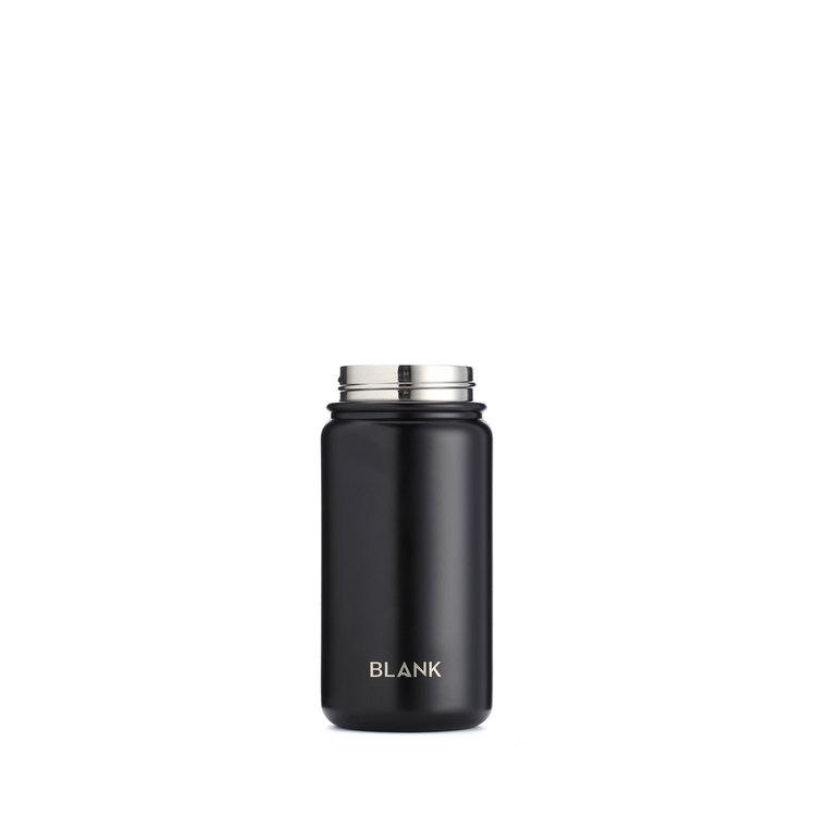 Termosmugg och rostfri vattenflaska i ett - Blank 410 ml Svart