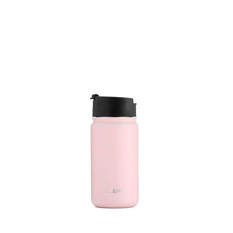 Termosmugg och rostfri vattenflaska i ett - Blank 410 ml Rosa