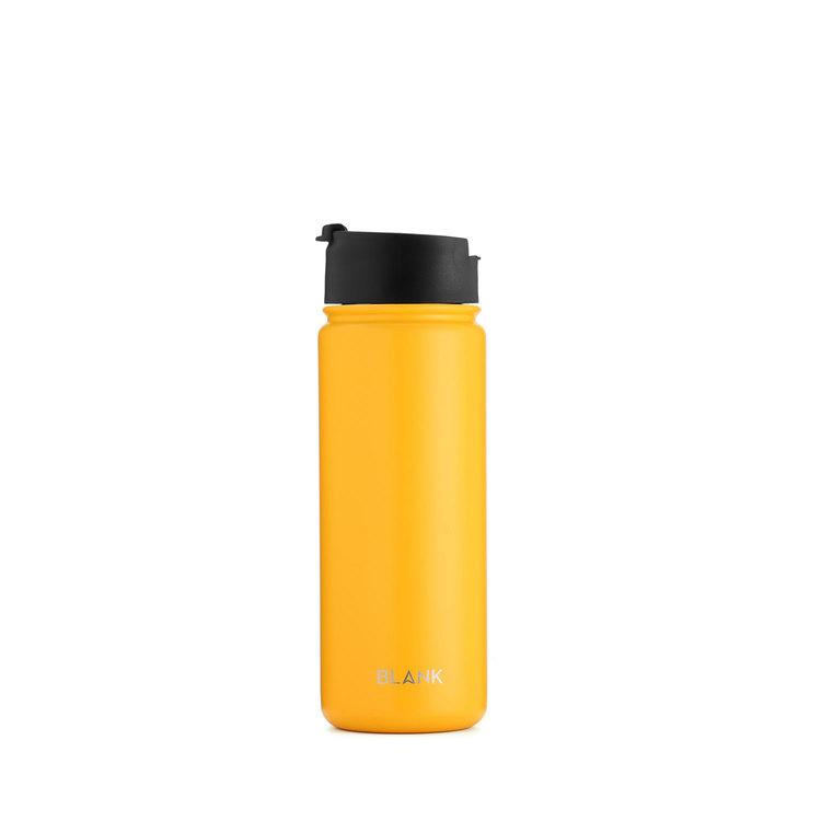 Termosmugg och rostfri vattenflaska i ett – Blank 530 ml Gul