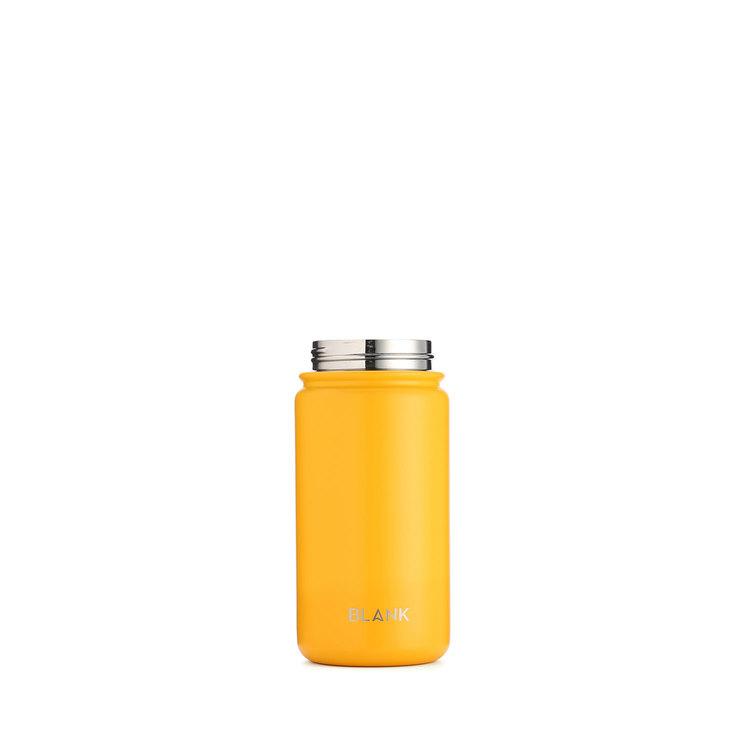 Termosmugg och rostfri vattenflaska i ett - Blank 410 ml Gul