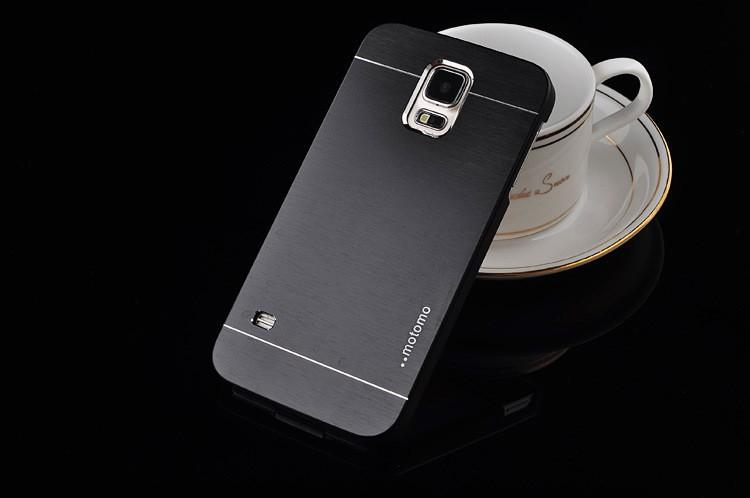 Borstad metall skal för Samsung S5