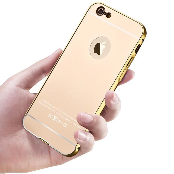 Bumper och spegel baksida för iPhone 6Plus / 6S Plus (2 delar)