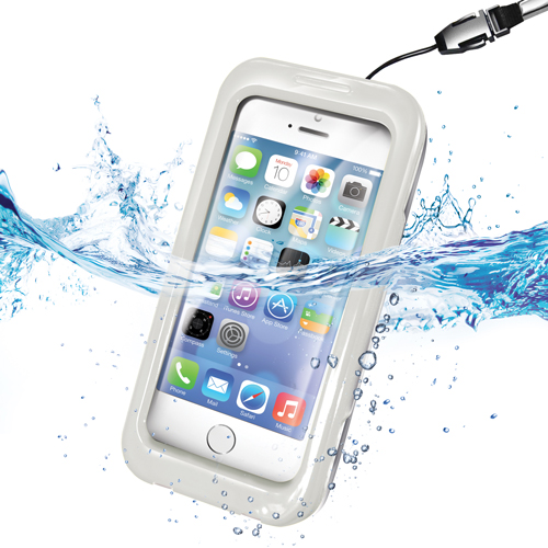Celly Vattentätt fodral iPhone 5 Vit