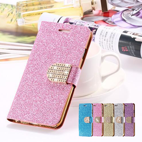 Glitter Fodral till iPhone 7/8 / Plånbok / Stativ