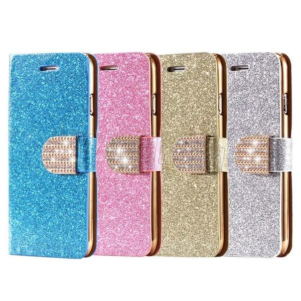 Glitter Fodral till Samsung S6 EDGE / Stativ