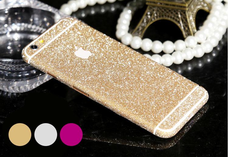 Glitter klisterskal för iPhone 6 plus / 6S plus (fram och bak)