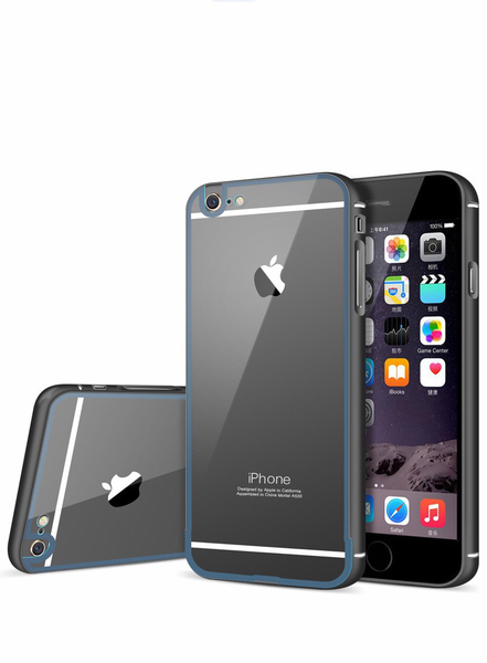 iPhone 6 Metallisk Skyddande Bumper + Baksida Panel