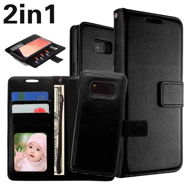 "Magnetskal/plånbok ""2 i 1"" Samsung S8 -Flera färger"