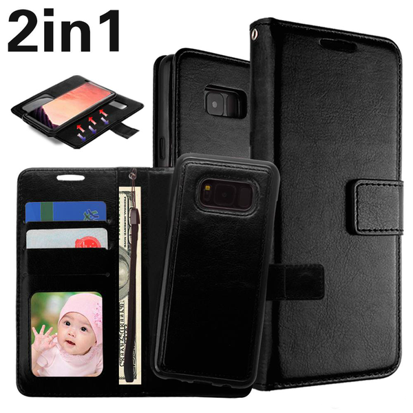 "Magnetskal/plånbok ""2 i 1"" Samsung S8 Plus -Flera färger"
