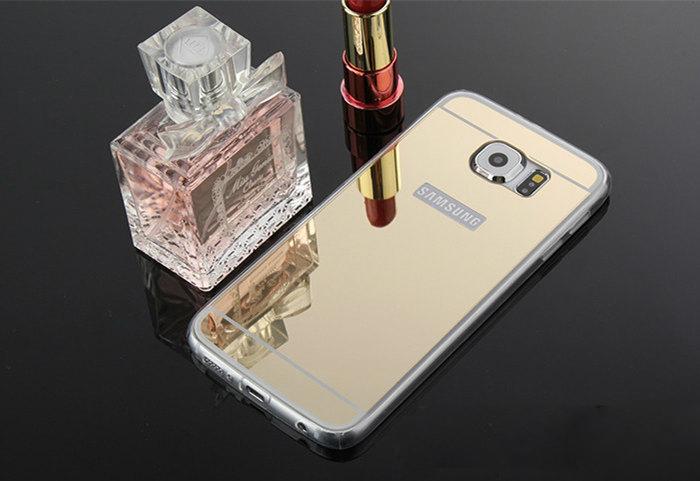Samsung s6 EDGE med spegelbaksida