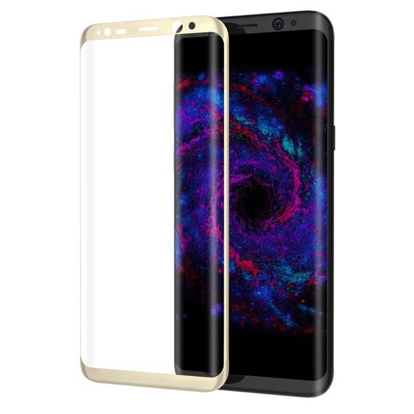 Samsung S8   GULD   Heltäckande Härdat Glas 3D