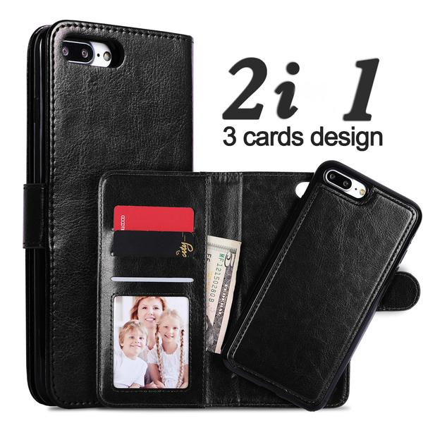 """Magnetskal/plånbok """"2 i 1"""" iPhone 8 - Flera färger"""