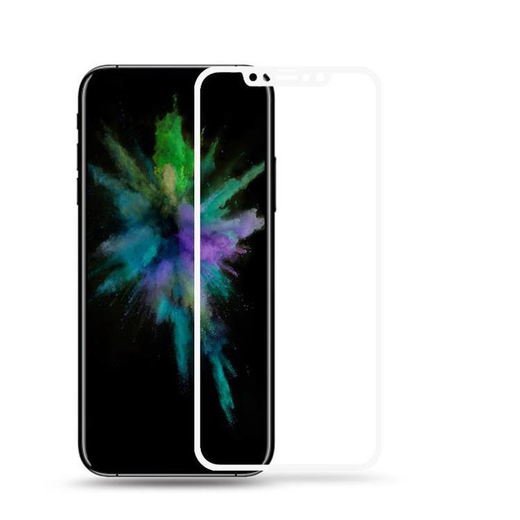 HD Clear 3D Härdat Glas - Iphone X - Heltäckande -Vit