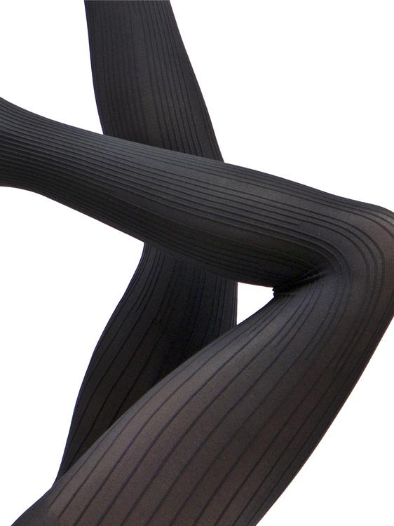 Strumpbyxa ribbmönster 50 den Devon svart 1 XL