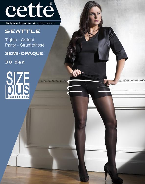 Strumpbyxa med stödbyxa 30 den svart -  Seattle Large