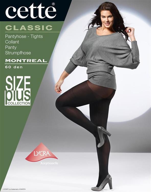 Strumpbyxa täckande 60 den svart - Montreal 3 XL - LYCRA 3D