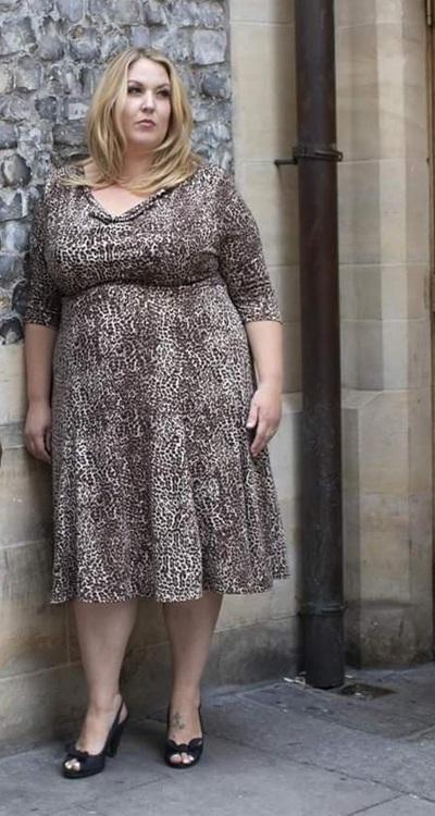 Brun Leopardmönstrad klänning