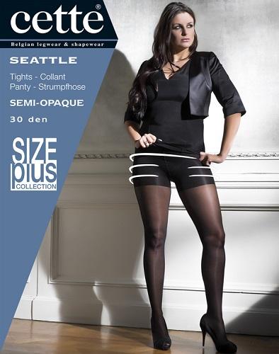 Strumpbyxa med stödbyxa 30 den svart -  Seattle 3 XL