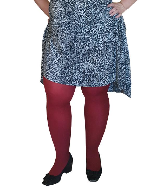 Strumpbyxa Cherry röd 60 den Dublin 3 XL  LYCRA 3D