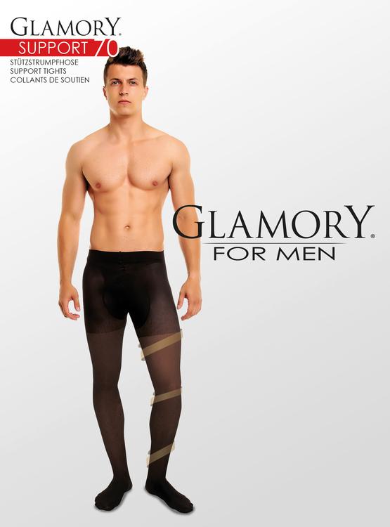 Stödstrumpbyxa för män 4XL Support 70 den svart
