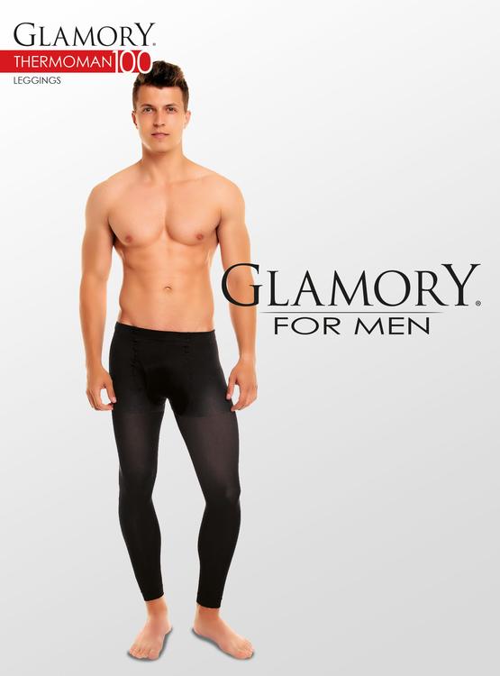 Leggings med gylf för män 4XL 100 den svart