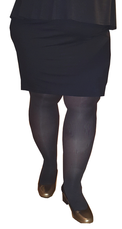 Strumpbyxa 50 den grå/svart Glasgow 2XL