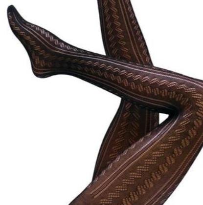 Strumpbyxa i bomull med stickat mönster 40 den Avignon 3 XL