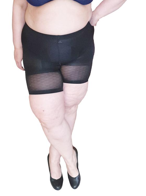 Shapingtrosa med ben svart 2XL Plus size