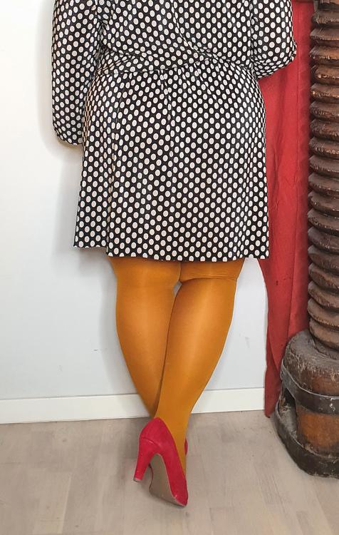 Strumpbyxa senapsgul 60 den Dublin 2 XL