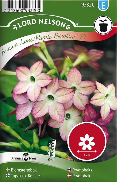 Blomstertobak, Avalon Lime/Purple F1