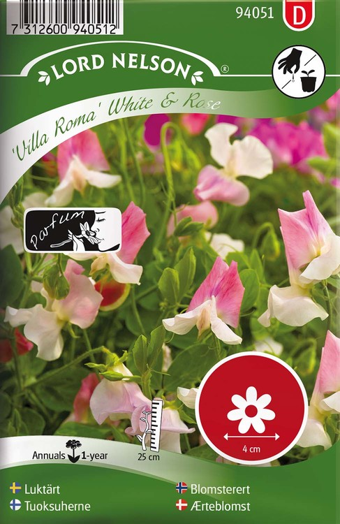 Luktärt Villa Roma White & Rose