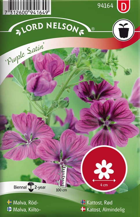 Malva, Röd-, Purple Satin
