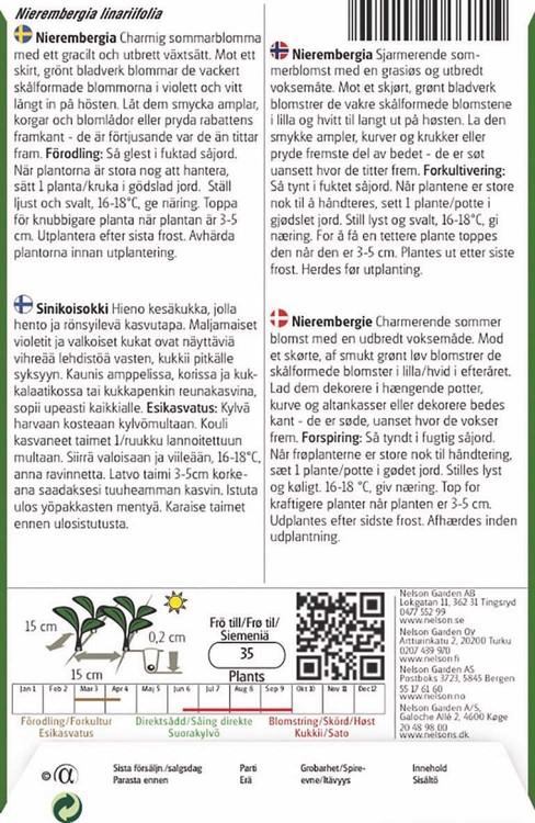 Nierembergia, Mix
