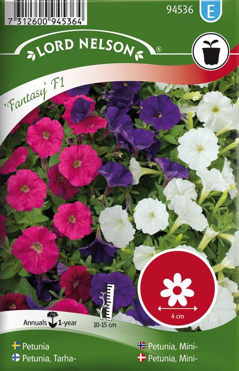 Petunia, Fantasy F1, mini, blandade färger