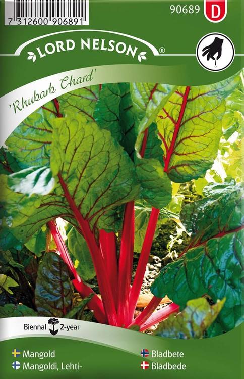 Mangold, Rhubarb Chard, röd