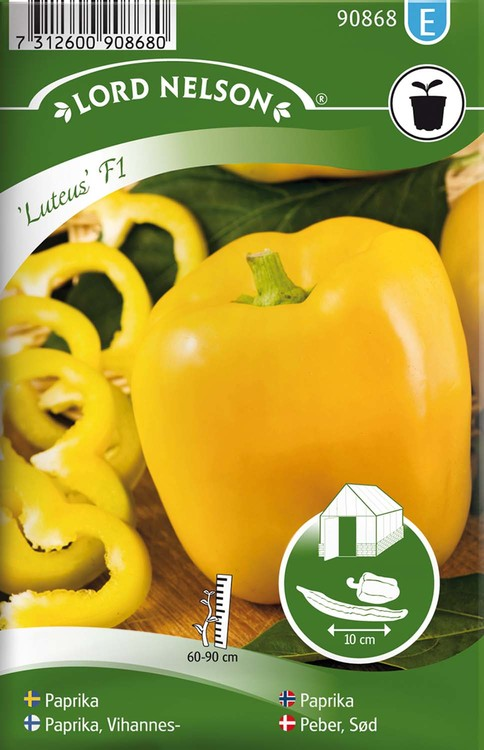 Paprika, Luteus F1, gul