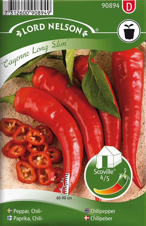 Chilipeppar, Cayenne Long Slim