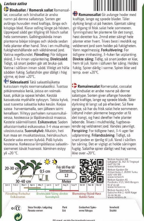 Sallat, Romersk-, Lobjoits Green Cos