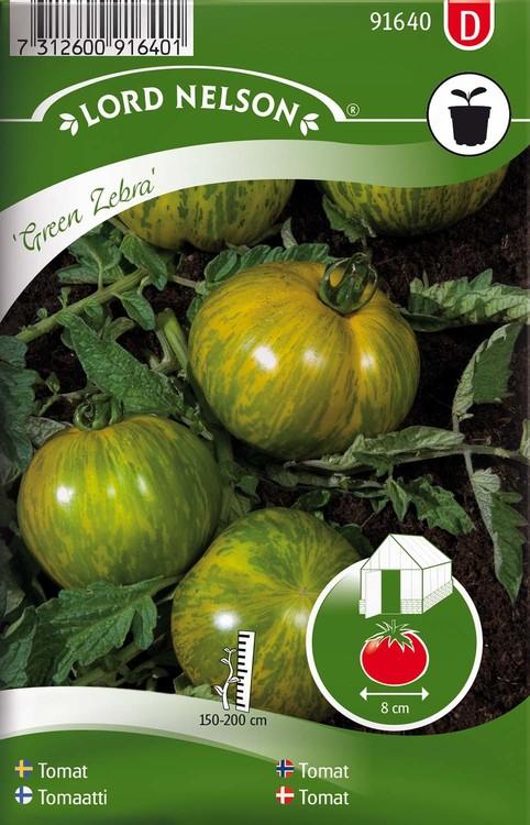 Tomat, Hög, Green Zebra