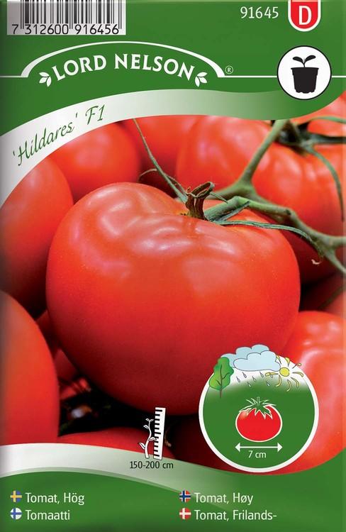 Tomat, Hög, Hildares F1, röd