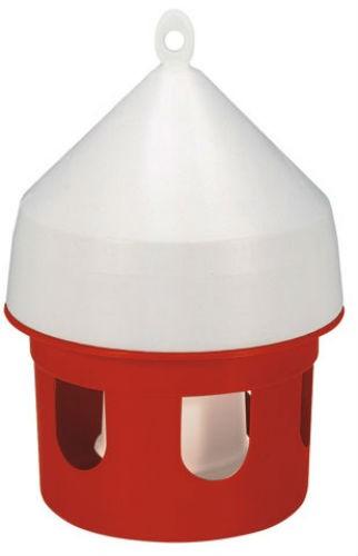 Vattenautomat plast 5 liter för duvor orange/vit