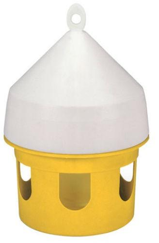 Vattenautomat plast 5 liter för duvor gul/vit