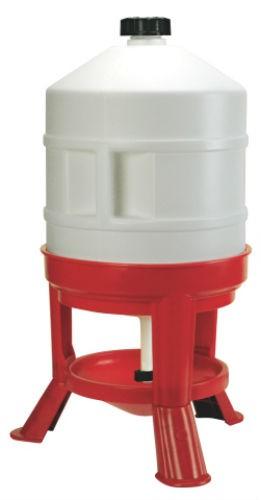 Vattenautomat plast 30 liter på ben