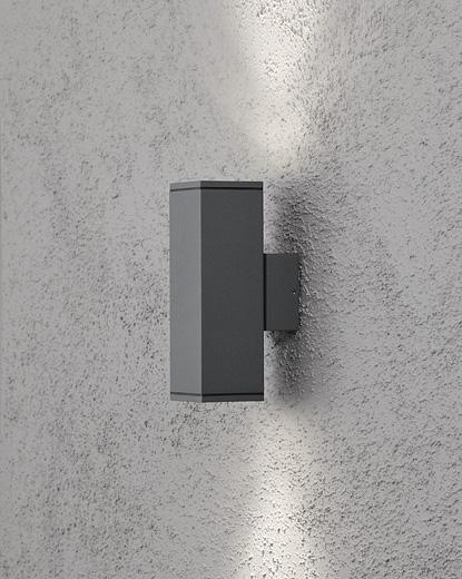 Monza vägglykta upp/ned GU10 mörkgrå