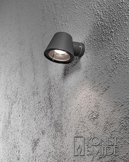 Trieste vägglykta GU10 mörkgrå