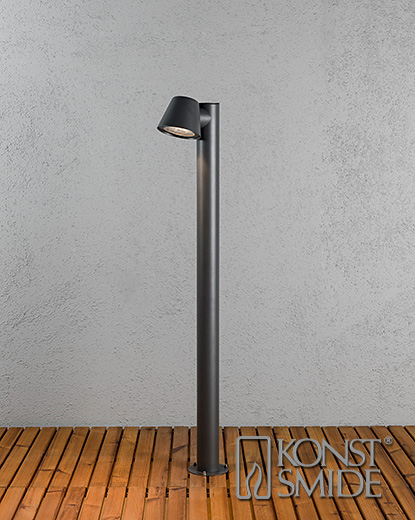 Trieste trädgårdsstolpe GU10 mörkgrå inkl stolpe
