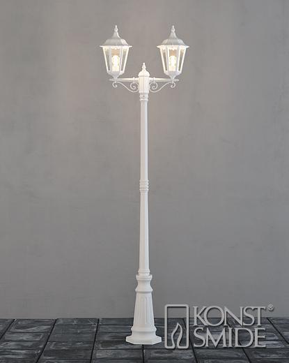 Firenze 2-arm lykta inkl stolpe vit