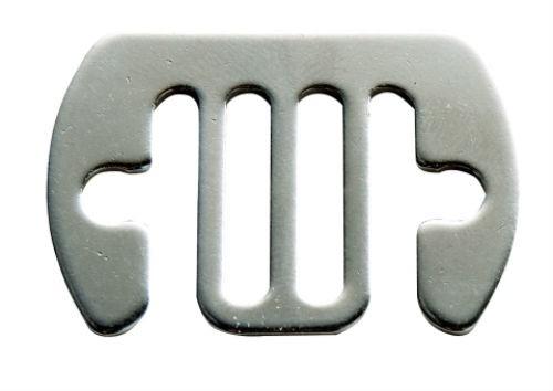 Skarvbleck rostfri 12-20 mm 5st