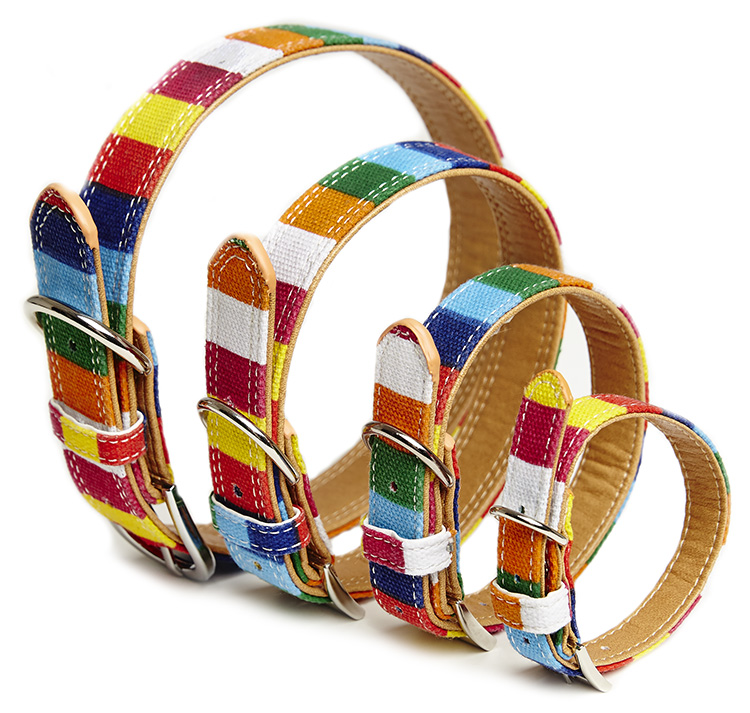 Halsband- Canvas stripes