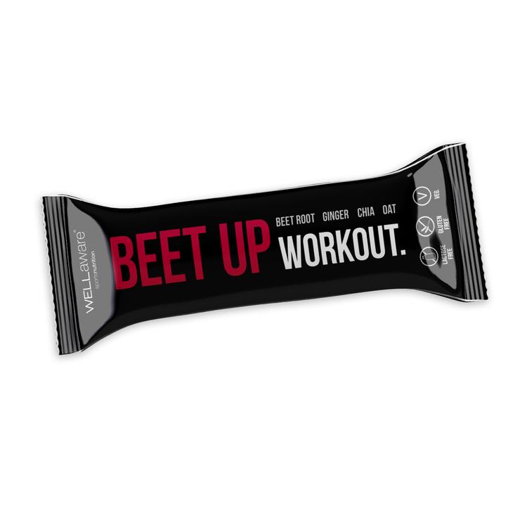 BeetUp Workout Bar 50 gram - Veg. Glutenfri. Laktosfri